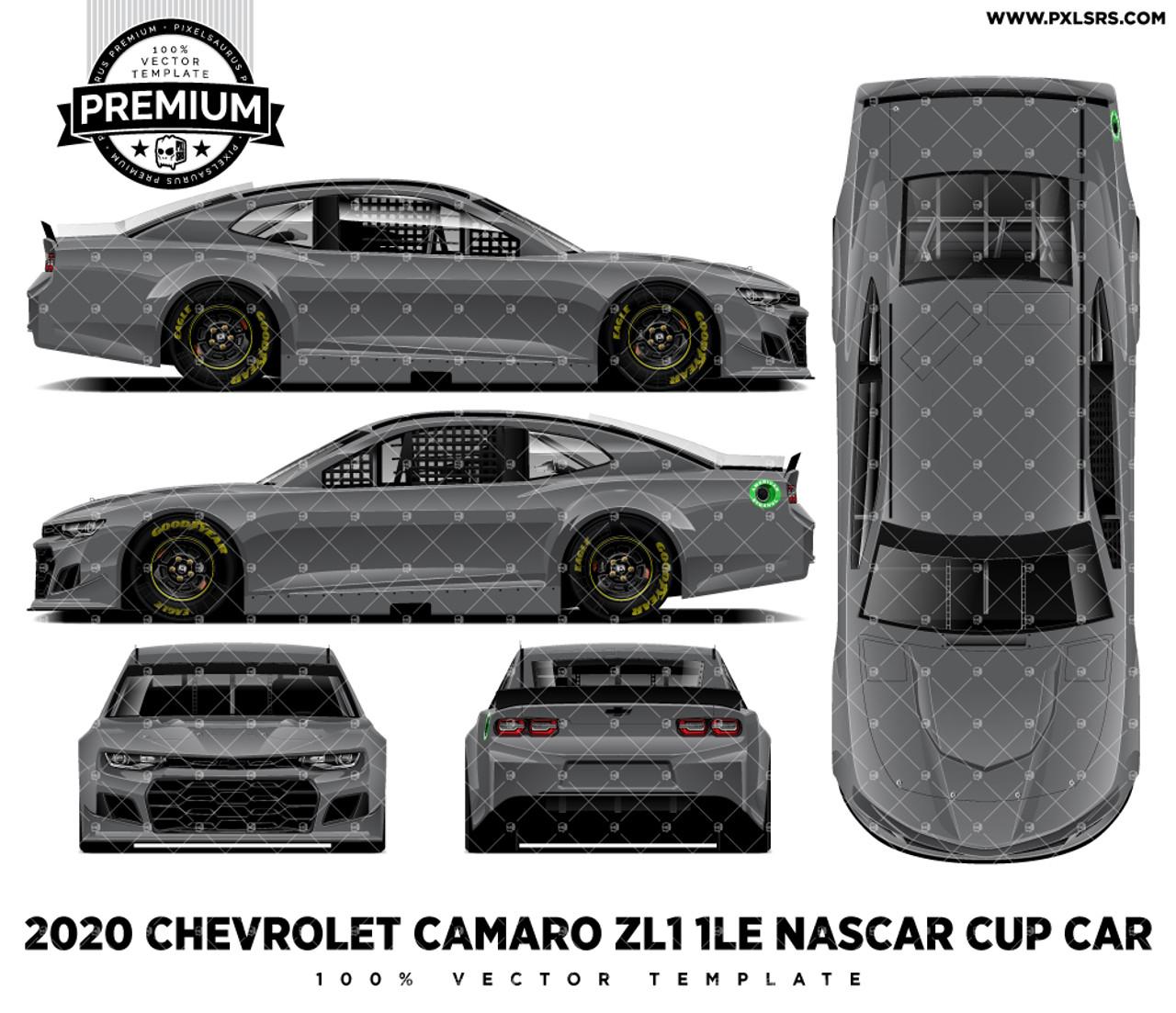 2020 Chevrolet Camaro Zl1 1le Nascar Full Premium Vector Template Pixelsaurus