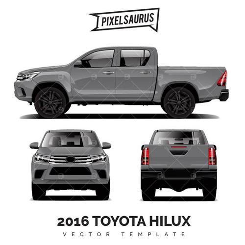 2016 Toyota Hilux - Vector Template