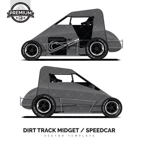 Bullet-Spike Dirt Track Midget