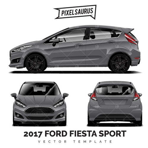 2017 Ford Escape Vector Template