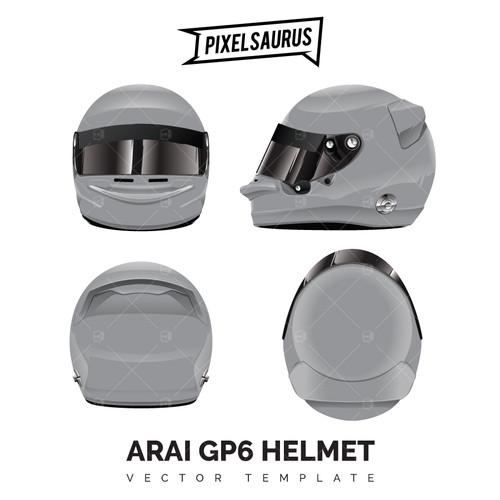 Arai GP6 Helmet - Vector Template