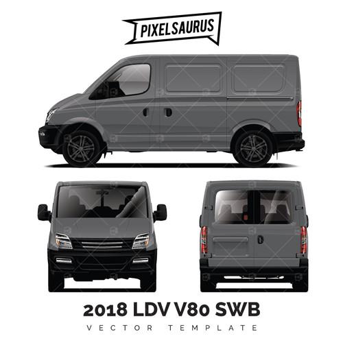 2018 LDV V80 (Maxus) vector template SWB
