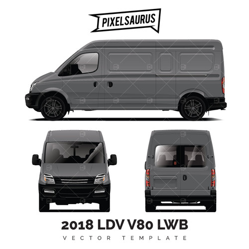 2018 LDV V80 (Maxus) LWB / BIGGER vector template