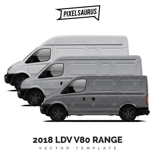 2018 LDV V80 (Maxus) RANGE vector template