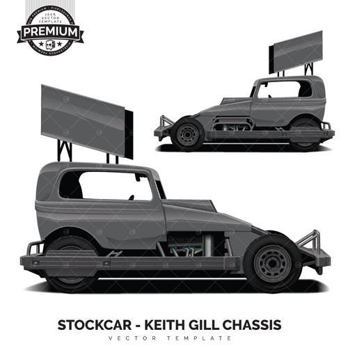 STOCKCAR - Keith Gill Chassis 'Premium' Vector Template