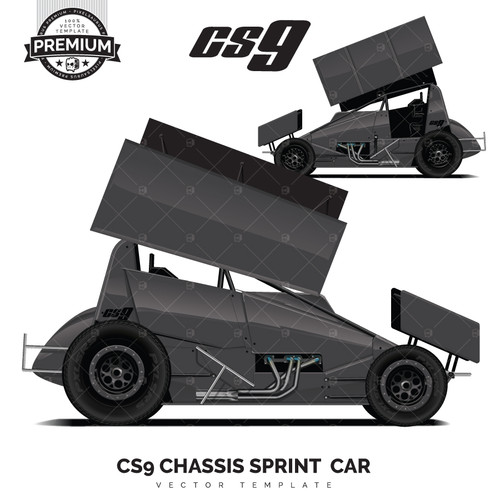 CS9 CHASSIS Sprint Car 'Premium' Vector Template