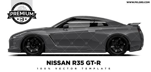 Nissan R35 GT-R 'Premium' Vector Template