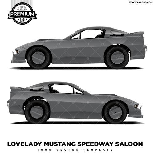 Lovelady Mustang Saloon 'Premium' Vector Template