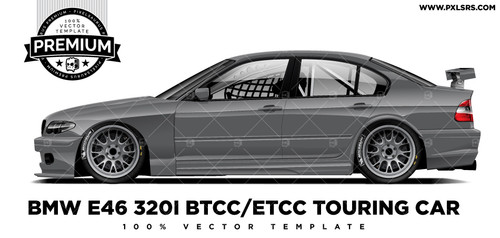BMW E46 320i BTCC / ETCC TOURING CAR 'Premium' Vector Template