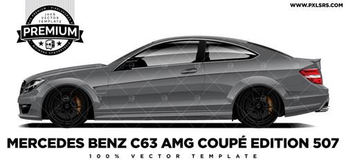 Mercedes Benz C63 AMG Coupé Edition 507 'Premium' Vector Template