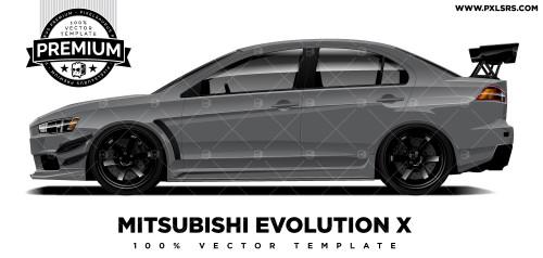 Mitsubishi Evo X 'Premium' Vector Template