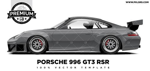 Porsche 996 GT3 RSR 'Premium' Vector Template