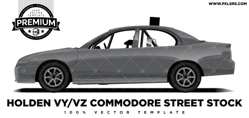 Holden Commodore VY/VZ Dirt Street Stock 'Premium' Vector Template