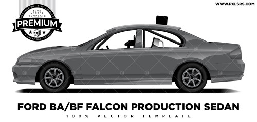 Ford BA/BF Falcon Production Sedan 'Premium' Vector Template