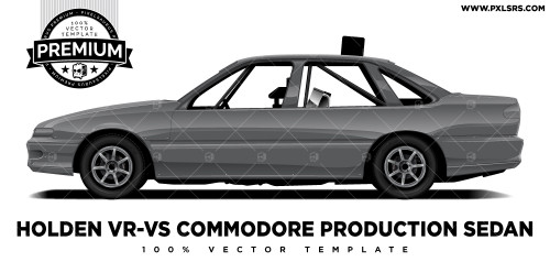 Holden VR-VS Commodore Production Sedan 'Premium' Vector Template