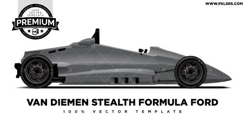 Van Diemen Stealth Formula Ford Side Only 'Premium' Vector Template