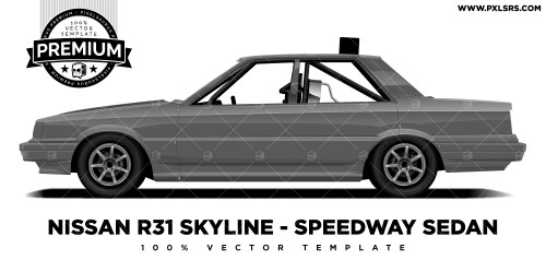 Nissan R31 Skyline Sedan Production Sedan 'Premium' Vector Template