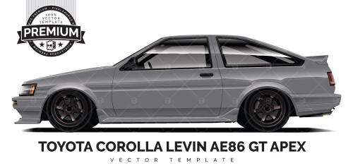 Toyota Levin AE86 GT Apex 'Premium' Vector Template