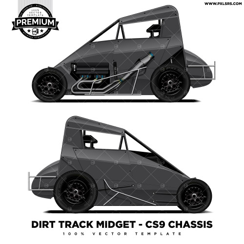 Kkr Sprint Car Premium Vector Template Pixelsaurus