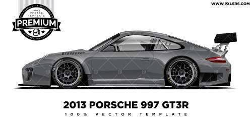 Porsche 997 GT3R 'Premium' Vector Template