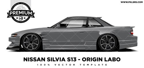 Nissan Silvia S13 - Origin Labo 'Premium' Vector Template
