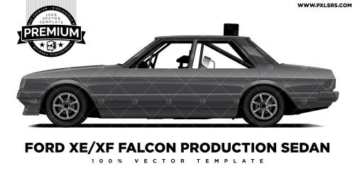 Ford XE/XF Falcon Production Sedan 'Premium' Vector Template