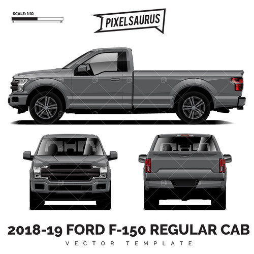 2015-2019 Ford F-150 Regular Cab vector Template