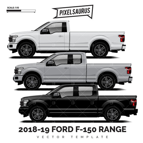 2015-2019 Ford F-150 Range Vector Template Pack