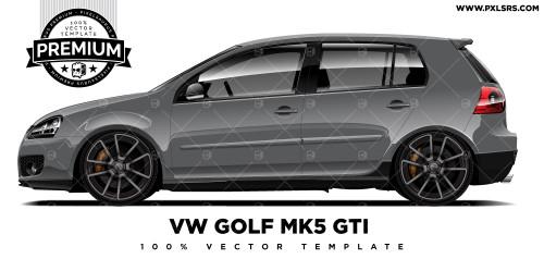 Volkswagen Golf MK5 GTi 'Premium' Vector Template