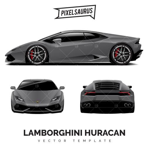 Lamborghini Huracan vector Template