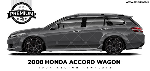 2008 Honda Accord Wagon 'Premium' Vector Template