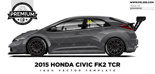 2015-2018 Honda Civic Type R TCR 'Premium' Vector Template