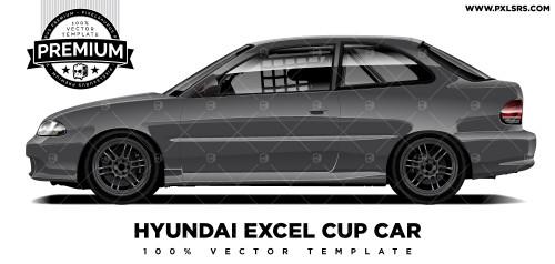 Hyundai Excel Cup Car 'Premium' Vector Template