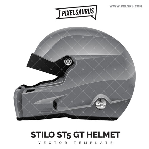 Stilo ST5 GT Helmet - Vector Template