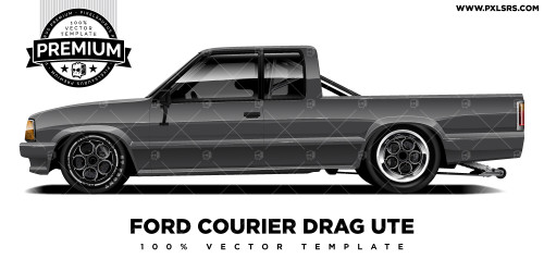 Ford Courier Drag Ute 'Premium' Vector Template