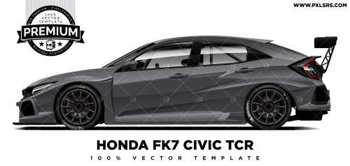 2018-2019 Honda FK8 Civic TCR 'Premium' Vector Template