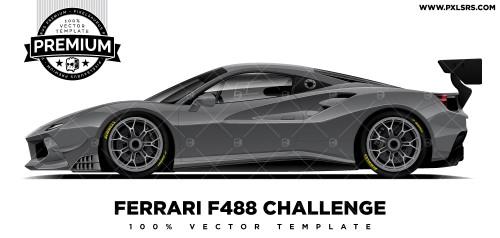 Ferrari F488 Challenge 'Premium' Vector Template