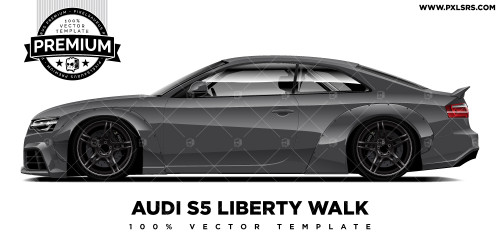 Audi A5 Coupé - Liberty Walk 'Premium' Vector Template