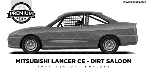 Mitsubishi Lancer / Mirage Coupe - Dirt Saloon 'Premium' Vector Template