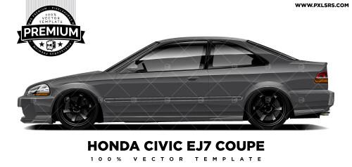 Honda Civic EJ7 Coupé 'Premium' Vector Template