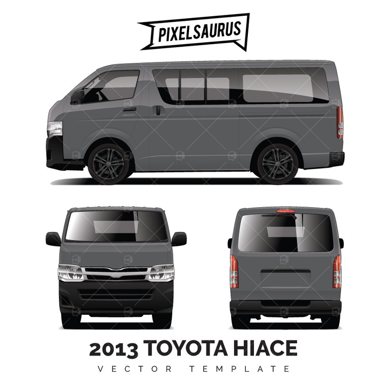 Late Model Toyota Hiace (H200) Vector Template