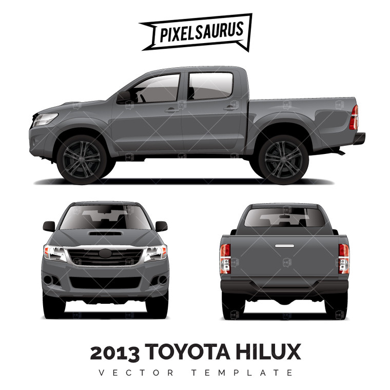 Late Model Toyota Hilux (N70) Vector Template