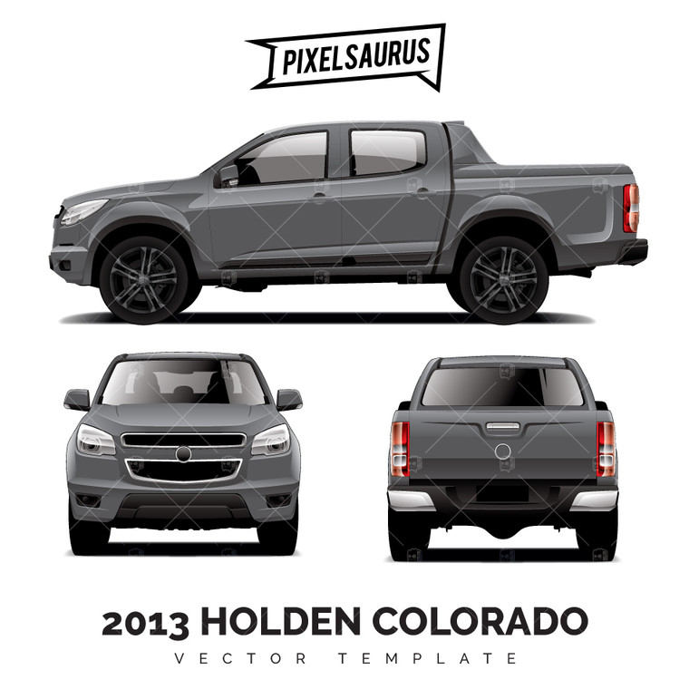 2013 Holden Colorado (RG) Vector Template