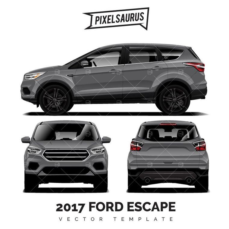2017 Ford Escape Vector Template