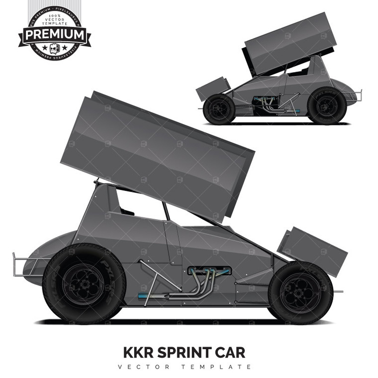 KKR Sprint Car 'Premium' Vector Template