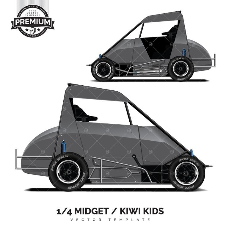 Dirt Track 1/4 Midget 'Premium' Vector Template