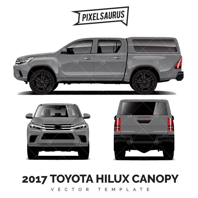 2017 Toyota Hilux + Canopy - Vector Template