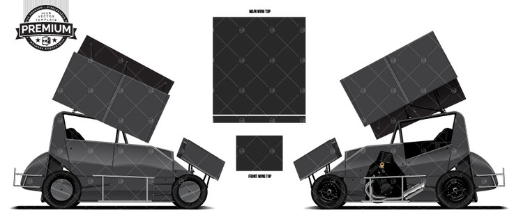 CS9 CHASSIS 600cc Micro Sprint 'Premium' Vector Template