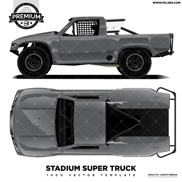 Stadium Super Truck 'Premium' Vector Template