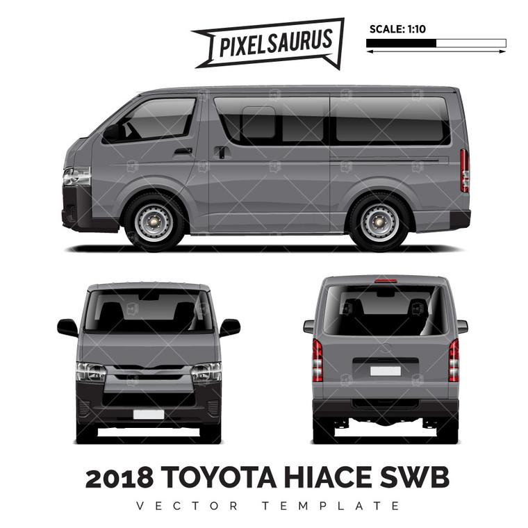 2018 Toyota Hiace / Regius Ace (H200) SWB vector Template